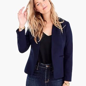 New J Crew Going Out Blazer In Stretch Twill Navy